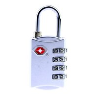 Wholesale Custom Suitcases - free shipping Customs Luggage Padlock TSA309 Resettable 4 Digit Suitcase Customs Safe Travel Code Lock