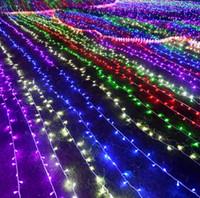 cadenas de colores al por mayor-10M 20M 30M 50M 100M 1000 LED 1000 cuerdas LED Luz de hadas Decoración de Navidad Luz roja / azul / verde Luz de Navidad colorida Fiesta Luz de la boda Luz de centelleo