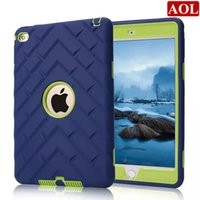 Wholesale 12 Inch Military - 3in1 Defender shockproof Robot Case military Extreme Heavy Duty silicon cover for ipad mini 4 7.9 inch 12 colors choice DHL free