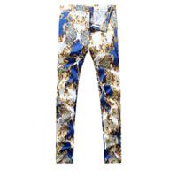 Wholesale Men Designer Jeans Sale - Wholesale-2016 New Men casual Jeans,Famous Brand Fashion Designer Denim Jeans Men, plus-size 28-38,Hot Sale Jeans Blue Black,Free Shipping