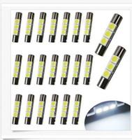 Wholesale Parks Nissan - 100PCS T10 28mm 30mm 3SMD LED Mirror Light Festoon Bulbs For Nissan Car Vanity Mirror Lights