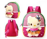 crianças coreanas brinquedos venda por atacado-Estilo coreano dos desenhos animados removível brinquedo do bebê boneca de pelúcia mochila ombros macios saco do jardim de infância saco para crianças multicolor frete grátis