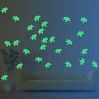 Wholesale Tricycle For Wholesale - Lovely Green Leaves And Tricycle Night Light Lovers' Decals Maple Wall Stickers Art Vinyl Wall Decals Home Decor Mural