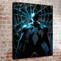 lona da pintura a óleo para a cozinha venda por atacado-(Sem moldura) homem aranha veneno HD Canvas Art Pintura A Óleo Fotos de Decoração Para Casa Quarto sala cozinha decoração