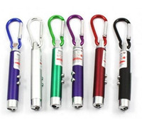 Wholesale Uv Led Pointer - By DHL LED Lazer 3 in 1 Mini Red Laser Pointer 2 LED Flashlight UV Torch With Keychain