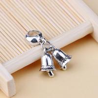 Wholesale Pandora Silver Bells - 2016 2017 Pandora 925 Sterling Silver Bells Dangle Bead Fit Charm European Bracelet DIY Pendant Accessories 100pcs lot