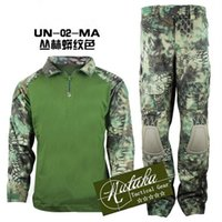 équipement de vêtements de plein air achat en gros de-Automne-2016 veste tactique 6.0 armée vêtements hommes veste à l'extérieur protègent veste + pantalons uniformes costumes de chasse camouflage