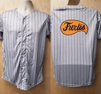 Wholesale ken costume - Furies Jersey Baseball Uniform Cobb Halloween Costume Shirt Movie Player Gang Pinstripe 70s Gift Idea