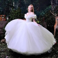 Wholesale Sexy Wedding Dress Costumes - Wowbridal Hot Sale 2017 New Movie Deluxe Blue Cinderella Wedding Dress Costume Bridal Dress Adult Cinderella Wedding Dresses