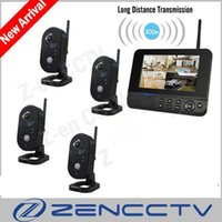 Home Security System 7 zoll Farbe LCD Monitor Überwachungskameras Kits 4CH Indoor Cam 2,4 Ghz Digital Wireless Kamera Kit Neue