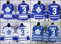 ingrosso foglia di acero bianco-2016 uomo Toronto Maple Leafs # 3 DION PHANEUF maglia da hockey bianco blu di alta qualità cucita taglia S-3XL