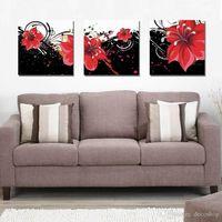 ev dekoru güzel sanatlar toptan satış-Tuval Ev Dekorasyonu Wall Art Set30345 On Modern Güzel Çiçek Güzel Çiçek Boyama Giclee Baskı