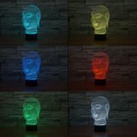 lâmpada de luz de buddha venda por atacado-3D Buda Tathagata Night Lamp Luz Da Noite Óptica 10 LEDs RGB DC 5 V USB Powered 5ª Bateria Bin Fábrica Por Atacado
