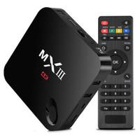 Wholesale Smart Tv Andriod - MXIII MX3 QuadCore Android Smart TV Box Fully Loaded 2GB 8GB 1080P Quad Core Andriod 4.4 TV Box