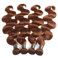 99j cheveux humains ondulés achat en gros de-Perou Indien Malaisien Bundles de Cheveux Humains Brésiliens Vierge Humide Et Ondulée Corps Vague Cheveux Tisse Pure Color # 2 # 99J # 27 # 30