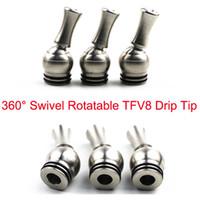 недорогой распылитель оптовых-Самая низкая цена 360 градусов вращающийся стиль из нержавеющей стали TFV8 потеков 810 капельного TFV8 TFV12 Кеннеди 24 РДА жлобом 528 форсунок