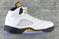 buy hot-hot - Discount Air Retro 5 Gold Cheap Best Basketball Shoe Mens Brand New Retro 5s Sneakers Comfortable Running Shoes Men Sports Outdoors Trainers