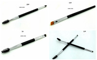 Wholesale Eyebrow Makeup - HOT Makeup Brush double eyebrow brush head brush DHL Free shipping+GIFT