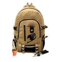 Wholesale Anime Bag Fairy Tail - Fairy Tail Backpack for Girls Fairy Tale Bag for School Canvas Japan Anime Printing Pattern SchoolBag for Middle School Students