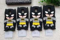 Wholesale Galaxy S3 Batman - ute 3D Cartoon Batman Soft Silicone Case Cover For Samsung Galaxy S3 S4 S5 Note 3 Note 4  i9300 i9500 Capa Silicon Phone Cases