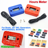 Wholesale Tachometer LCD Inductive Digital Hours Meter Waterproof hoursmeter for Motorcycle Bike ATV Snowmobile Marine Boat Ski Dirt Gas Engine