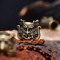 Free Shipping 50PCS lot Charm Metal dragon  leopard For Paracord Bracelet Knife Lanyards Accessories