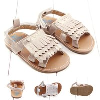 Wholesale Gold Baby Sandals - 0-1T Infant Girl summer Tassel sandals Baby Gold Silver Shoes Chaussure Fille GIEL BOY First Walk Shoes Toddler Moccasins
