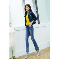 Wholesale Korean Model Pantyhose - The New 2016 Models Fall Ms. Burr Waist Jeans Weila Pants Female Pantyhose Pants Korean Speakers S Ten