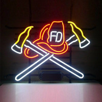 Cross Axes Verre DIY LED Neon Sign Light Flex Rope Light Décoration intérieure / extérieure RGB Voltage 110V-240V