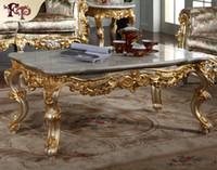 muebles antiguos de estilo francesa clsica con dorado de hojas mesa de