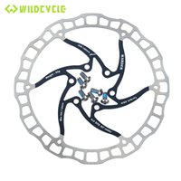 Wholesale rotor bolts - 1pc New MTB Mountain Road Bike Bicycle Cycling Disc Brake Rotors 160mm 180mm 6 Bolts Red Black Blue Gold Silver White