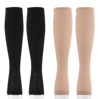 Wholesale Toe Socks Stockings - Wholesale-Miracle Socks Antifatigue Compression Stockings Soothe Tired Achy Unisex Knee Socks Pantyhose Supports Toe Thigh Leg Stocking