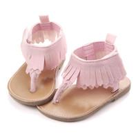 Wholesale sandal prewalker for sale - Group buy Infant Baby Girls Tassels Premium Soft Rubber Sole Anti Slip Summer Prewalker Toddler Sandals