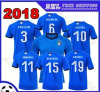 Wholesale Italian Cup - 17-18 INSIGNE 2018 Italy soccer jerseys WORLD CUP national team Verratti home away Men soccer shirt IMMOBILE EL SHAARAWY Italian