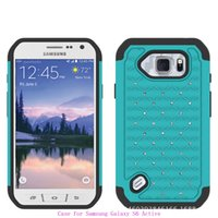 Wholesale Cover S2 Luxury - Luxury Billing Diamond Combo Cell Phone Protective Hybrid Case Cover For Samsung Galaxy S4 S5 S6 Active S2 T989 Note Edge N9150 Shockproof