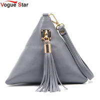 Wholesale Leather Fringe Hobo - Vogue Star Fashion Mini Tassel Clutch Leather Bag Designer Purse Famous Brand Women Fringe Handbag Evening Bag Bolsa LS453