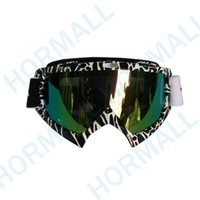 Wholesale Motocross Goggles Tinted - GLASSES Tinted UV Stripe Motorcycle Motocross Bike Cross Country Flexible Goggles Motocross MX Goggles