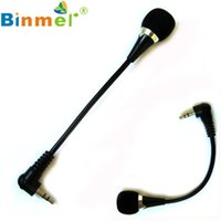 Wholesale Mini Flexible Microphone - Wholesale- Factory price New High Quality Hot Selling Binmer Mini 3.5mm Jack Flexible Microphone Mic For PC Laptop Notebook Drop Shipping