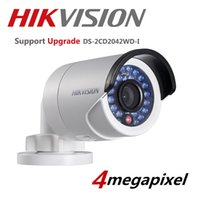 Wholesale Ip Camera Outdoor Wdr - HIKVISION DS-2CD2042WD-I 4MP Original PoE 4mm WDR Mini Bullet Network Ip Camera