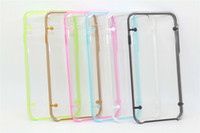 Pour Iphone 8 7 Plus Iphone7 Luminous Hard PC TPU Case Light Up Sac coloré Glow In the Dark Transparent Clear Cell Phone Skin Cover 10pcs