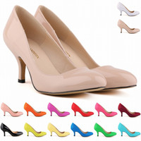Wholesale Corset Style Party Dresses - Europe Style Fashion LADIES MID HEELS POINTED CORSET STYLE WORK PUMPS COURT Women SHOES US SIZE 4-11 D0012