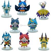 Wholesale Model Figure Base Set - Cartoon Pocket Monster poke Action Figures 8pcs set about 10CM 4inch mini children toys poke Model Decoration with Base DHL C1126