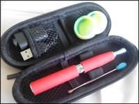 ingrosso asta micro penna-VB skillet vaped pen vaporizzatore micro vaping quarzo dual coil doppio ceramica rod coil elemento riscaldante cera secca herb chamber pen kit ego