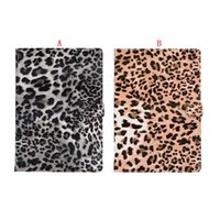 Retro Fur Leopard Fuzzy carré en cuir PU Wallet Housse Pour Ipad Pro 9.7 '' pouces tablette de luxe Vintage Fashion Holder stands 20pcs Couverture