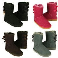 Wholesale Girls Rubber Boots Sale - 2017 Hot Sale New WGG Women's Australia Classic tall Boots Women girl boots Boot Snow Winter boots fuchsia blue leather shoes size 36-41