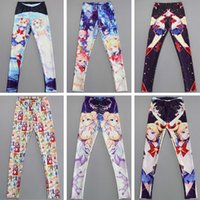 Las mujeres de moda Pacman Bone Galaxy Leggings 6 pantalones de color de buceo Impreso Sky Space Stretchy Breathe Navidad caliente Jeggings Slim medias