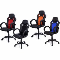 Wholesale Car Racing Chair - High Back Race Car Style Bucket Seat Office Desk Chair computer chair swivel chair home gaming casual chair top quality CB10068