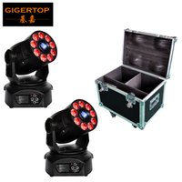 Wholesale focus wheels - 2IN1 Roadcase Pack Led Moving Head Wash Light Spot Function Rotate Gobo Wheel Color Wheel 3 Facet Prism Electronic Linear Focus