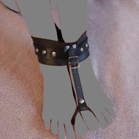 Wholesale Sex Games For Sale - Hot Sale Black PVC Toes Cuffs Ankle Restraint Extremerestraints Bondage Gear BDSM Set for Couple Sex Game Toys