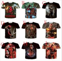 x filmes quentes venda por atacado-2016 Hot MARVEL Filme Ninja X homem Deadpool 3D Dos Homens mulheres camisetas Superhero Weave XI Novos Mutantes Tees camisas Dos Homens